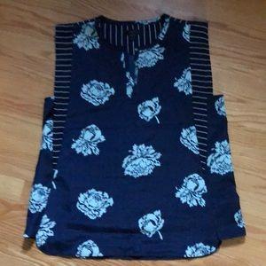 Jcrew  print sleeves dressy top
